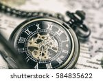 vintage pocket watch | Shutterstock . vector #584835622