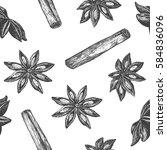 seamless pattern design or... | Shutterstock .eps vector #584836096