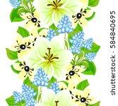 abstract elegance seamless... | Shutterstock . vector #584840695