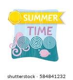 vector illustration sea fish... | Shutterstock .eps vector #584841232