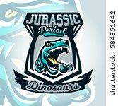 colourful emblem  logo ... | Shutterstock .eps vector #584851642