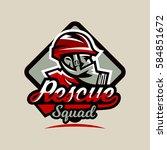 colourful emblem  logo  badge ... | Shutterstock .eps vector #584851672