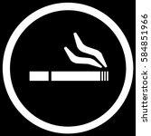 smoking area sign black. vector. | Shutterstock .eps vector #584851966