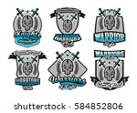set  collection of logos ... | Shutterstock .eps vector #584852806