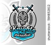 colorful logo  emblem  skull... | Shutterstock .eps vector #584852812