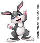 Stock photo happy rabbit cartoon 584854408