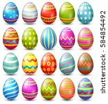 vector illustration of easter... | Shutterstock .eps vector #584854492