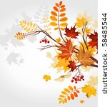 autumn background | Shutterstock .eps vector #58485544