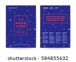 memphis art background for... | Shutterstock .eps vector #584855632