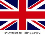 united kingdom flag 3d... | Shutterstock . vector #584863492