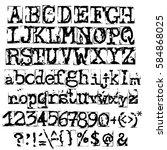 vector old typewriter font....   Shutterstock .eps vector #584868025