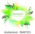 colorful vector background. | Shutterstock .eps vector #58487221