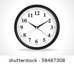 abstract clock icon vector...   Shutterstock .eps vector #58487308