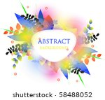colorful vector background. | Shutterstock .eps vector #58488052