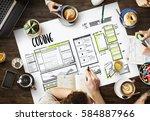 website development layout... | Shutterstock . vector #584887966