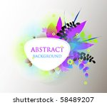 colorful vector background. | Shutterstock .eps vector #58489207