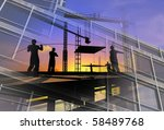 work on the construction at... | Shutterstock . vector #58489768
