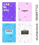 carnival poster set. abstract... | Shutterstock .eps vector #584897722