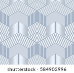 seamless blue op art geometric... | Shutterstock .eps vector #584902996