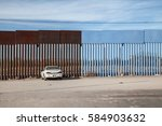 The Us Mexican Border Fence In...