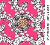 vector white pattern. vector... | Shutterstock .eps vector #584911555