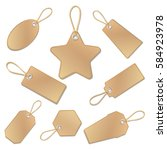blank vintage brown paper price ... | Shutterstock .eps vector #584923978