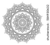 mandala. coloring book pages.... | Shutterstock .eps vector #584930632