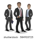 business team of employees and... | Shutterstock .eps vector #584933725