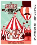 fun fair  carnival template... | Shutterstock .eps vector #584935432