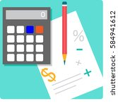 mathematics and education | Shutterstock .eps vector #584941612