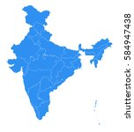 vector map india country | Shutterstock .eps vector #584947438