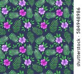 summer seamless pattern with... | Shutterstock .eps vector #584948986