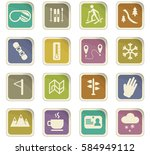 skiing vector icons for user... | Shutterstock .eps vector #584949112