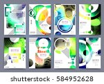 abstract background  brochure... | Shutterstock .eps vector #584952628