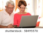 closeup of senior couple doing... | Shutterstock . vector #58495570