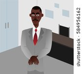 afro american businessman on... | Shutterstock .eps vector #584956162
