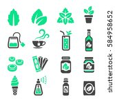 mint icon | Shutterstock .eps vector #584958652