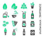 mint icon | Shutterstock .eps vector #584958652