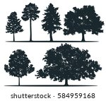 tree silhouettes   pine... | Shutterstock .eps vector #584959168