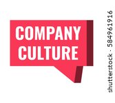 company culture. badge  icon ... | Shutterstock .eps vector #584961916
