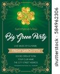 saint patrick's day invitation...   Shutterstock .eps vector #584962306