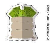 money bag isolated icon | Shutterstock .eps vector #584971006