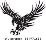 attack eagle   Shutterstock .eps vector #584971696