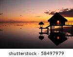 sunset at tahiti   Shutterstock . vector #58497979