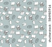 seamless pattern with books | Shutterstock .eps vector #584985916