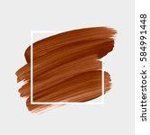 logo brush painted watercolor... | Shutterstock .eps vector #584991448