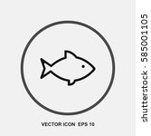 fish vector icon | Shutterstock .eps vector #585001105