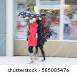 Women With Umbrella Walking...