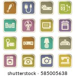 home appliances vector icons... | Shutterstock .eps vector #585005638