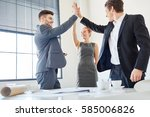 business people giving high...   Shutterstock . vector #585006826